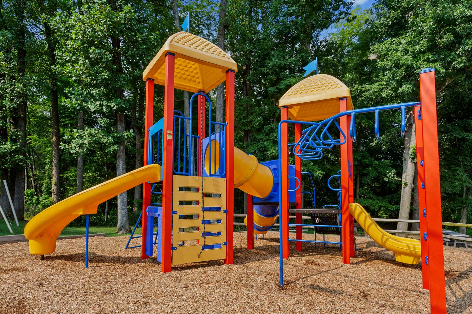 Play area at Woodmont Park Apartments in Alexandria, VA