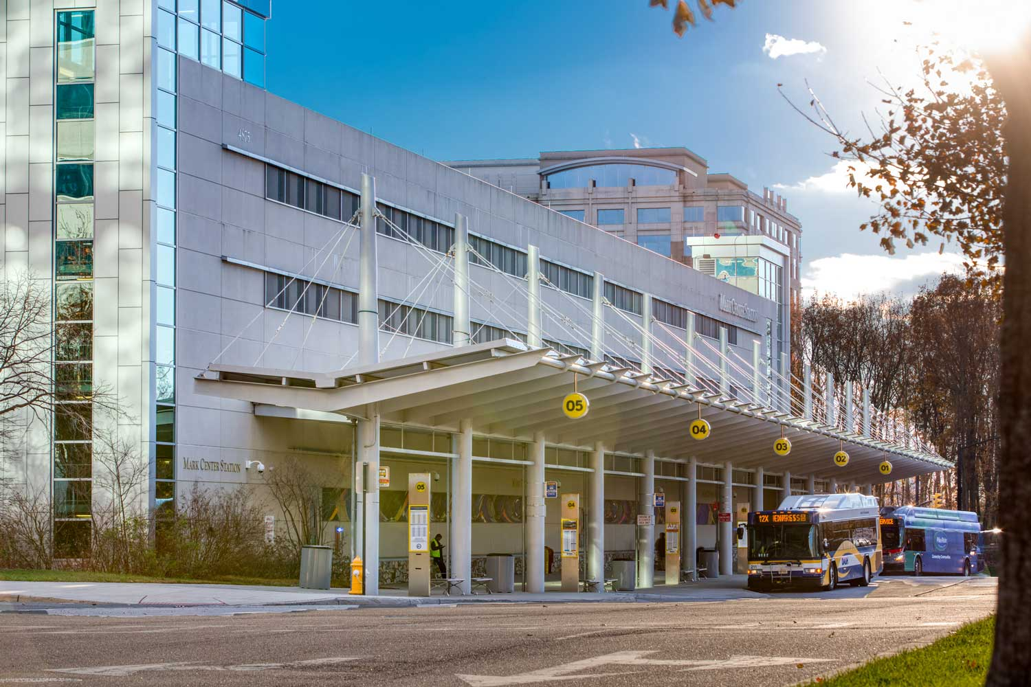 Mark Center Transit station is 5 minutes from Woodmont Park Apartments in Alexandria, VA