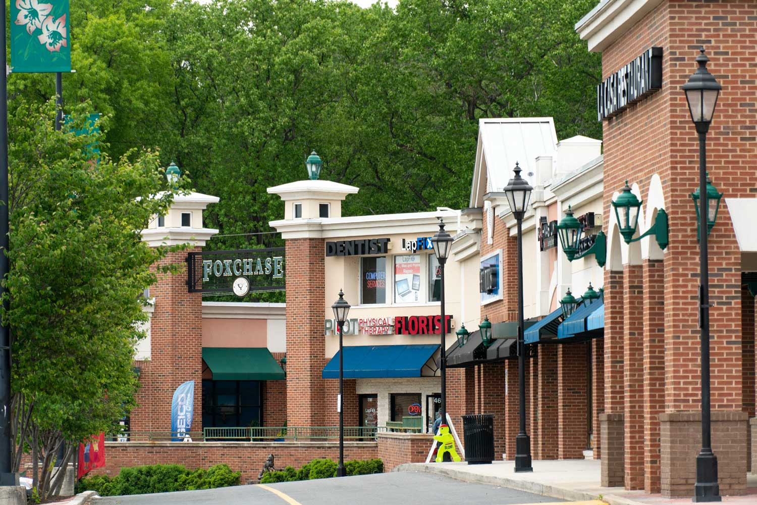 Shoppes of Foxchase is 10 minutes from Woodmont Park Apartments in Alexandria, VA