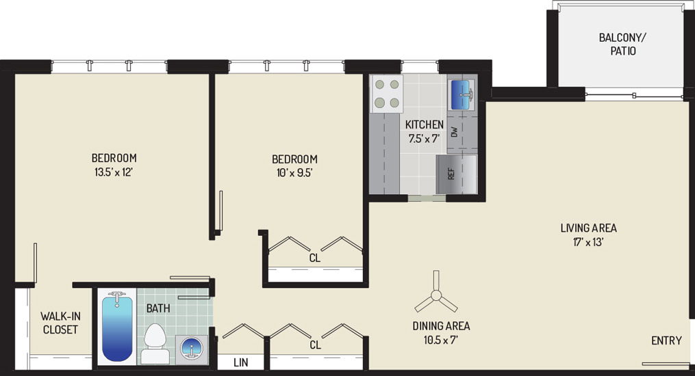 Woodmont Park Apartments - Apartment 405511-102-D1