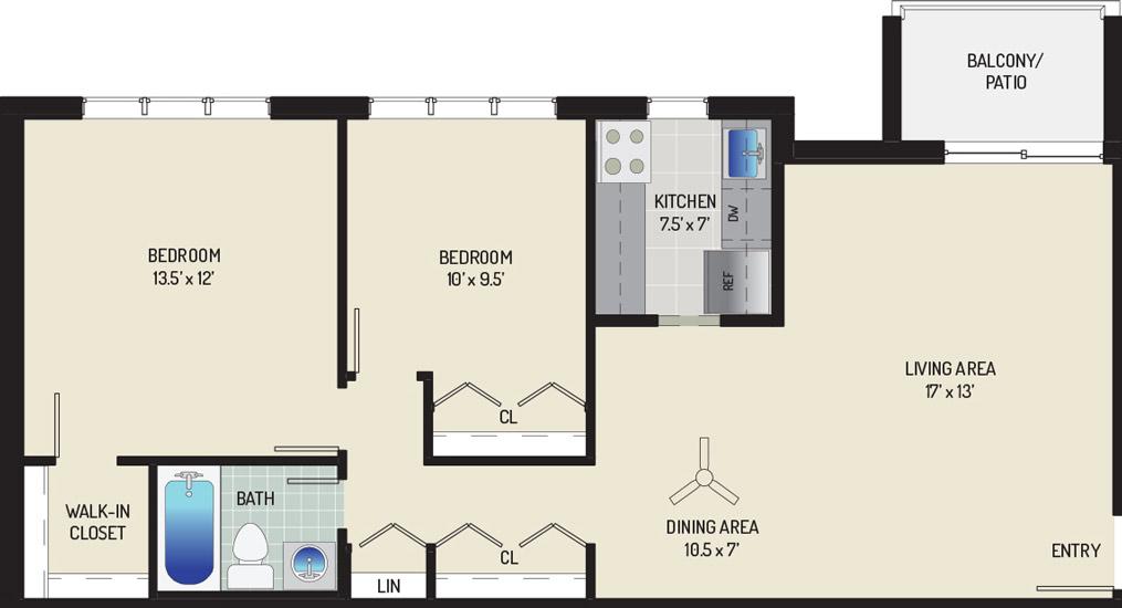Woodmont Park Apartments - Apartment 405550-102-D1