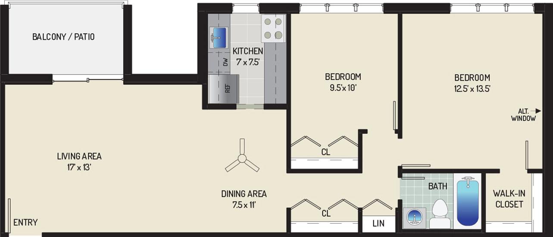 Woodmont Park Apartments - Apartment 405550-203-E1