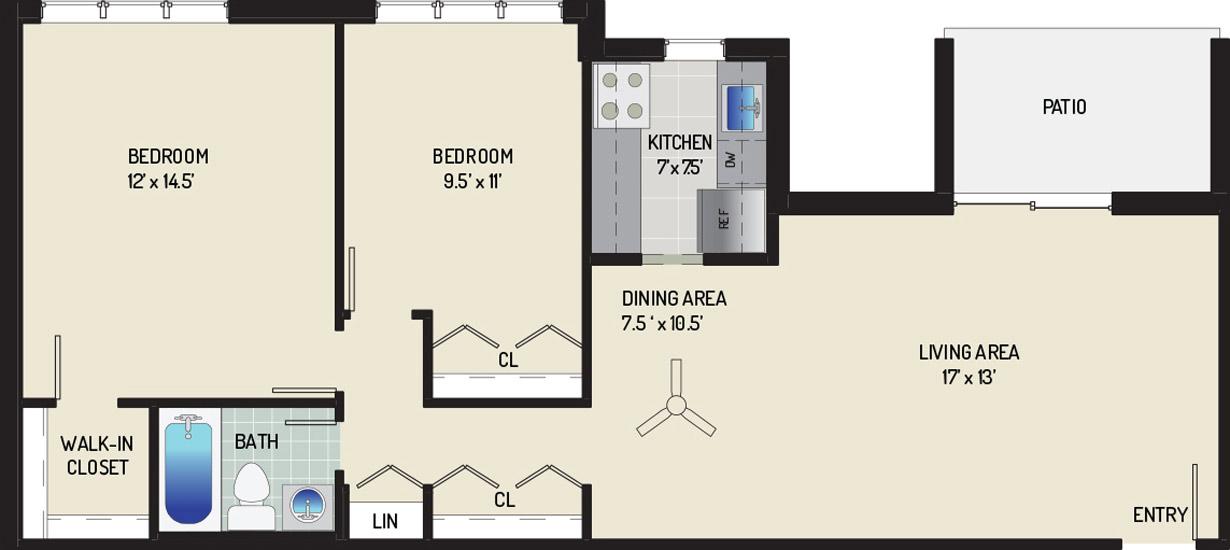 Woodmont Park Apartments - Apartment 405500-101-F2