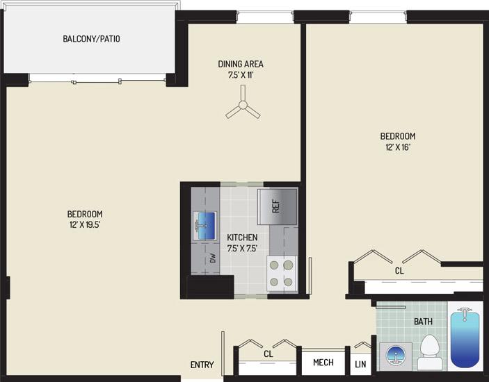 Woodmont Park Apartments - Apartment 415420-410-D1