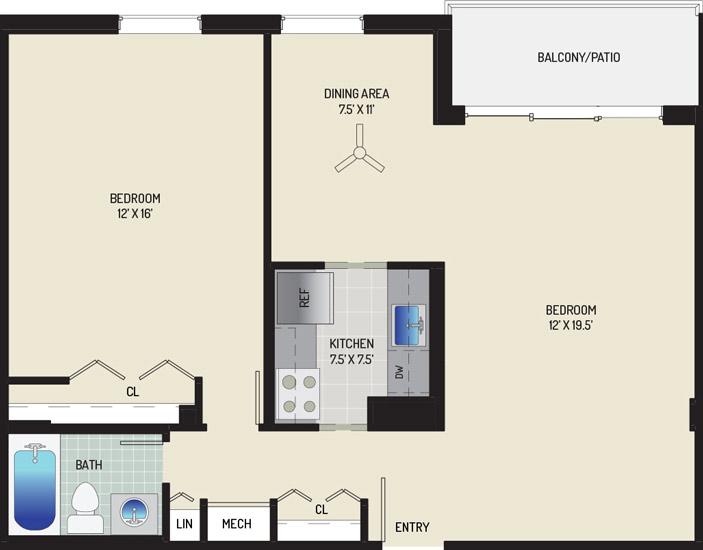 Woodmont Park Apartments - Apartment 415400-502-D2