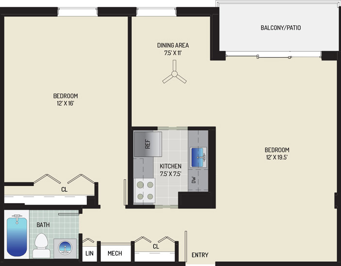 Woodmont Park Apartments - Apartment 415400-507-D2