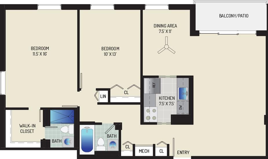 Woodmont Park Apartments - Apartment 415400-204-E2