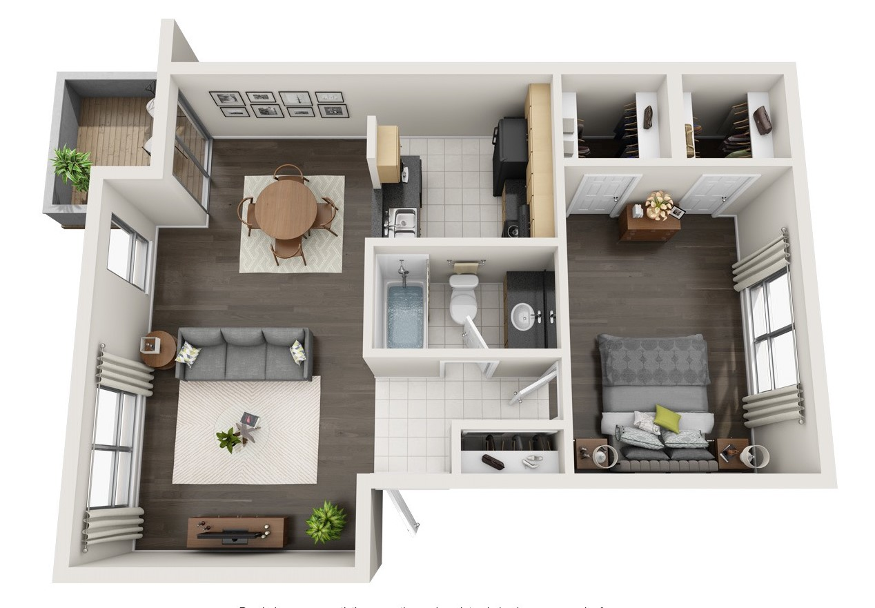 The Woods at Spring Grove - Floorplan - 1 BR