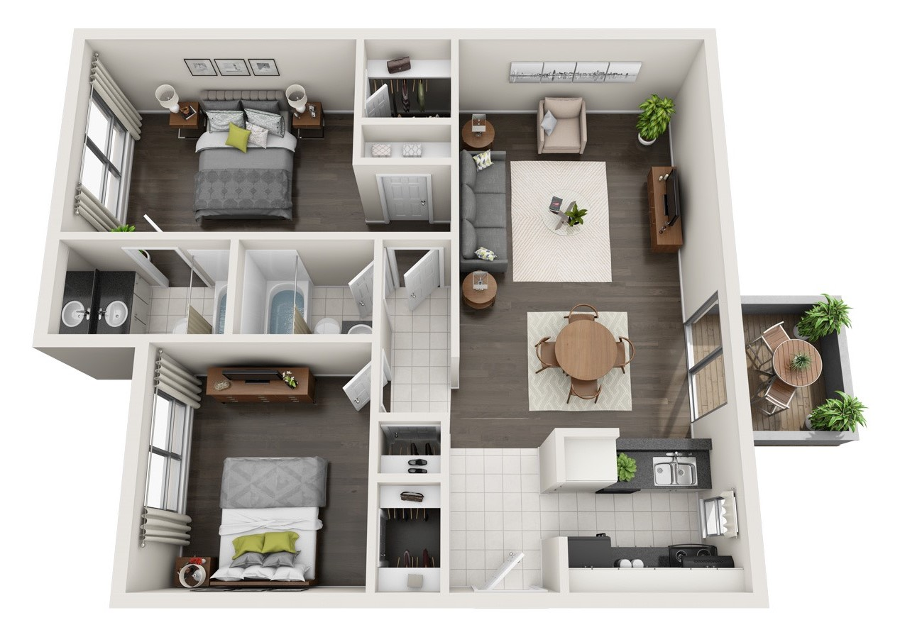 The Woods at Spring Grove - Floorplan - 2 BR