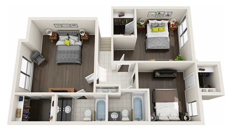 The Woods at Spring Grove - Floorplan - 3 BR