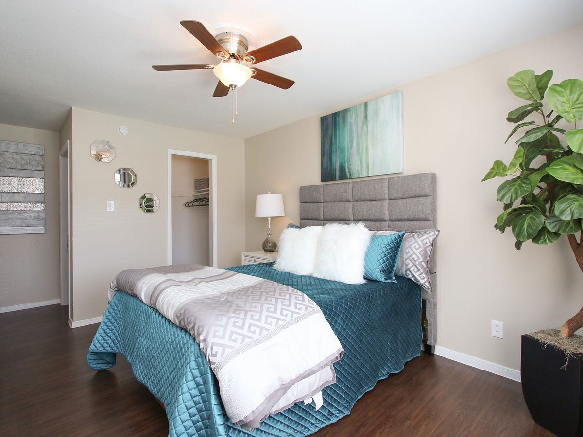 Spacious Bedrooms at Woods at Spring Grove Apartments in Houston, Texas