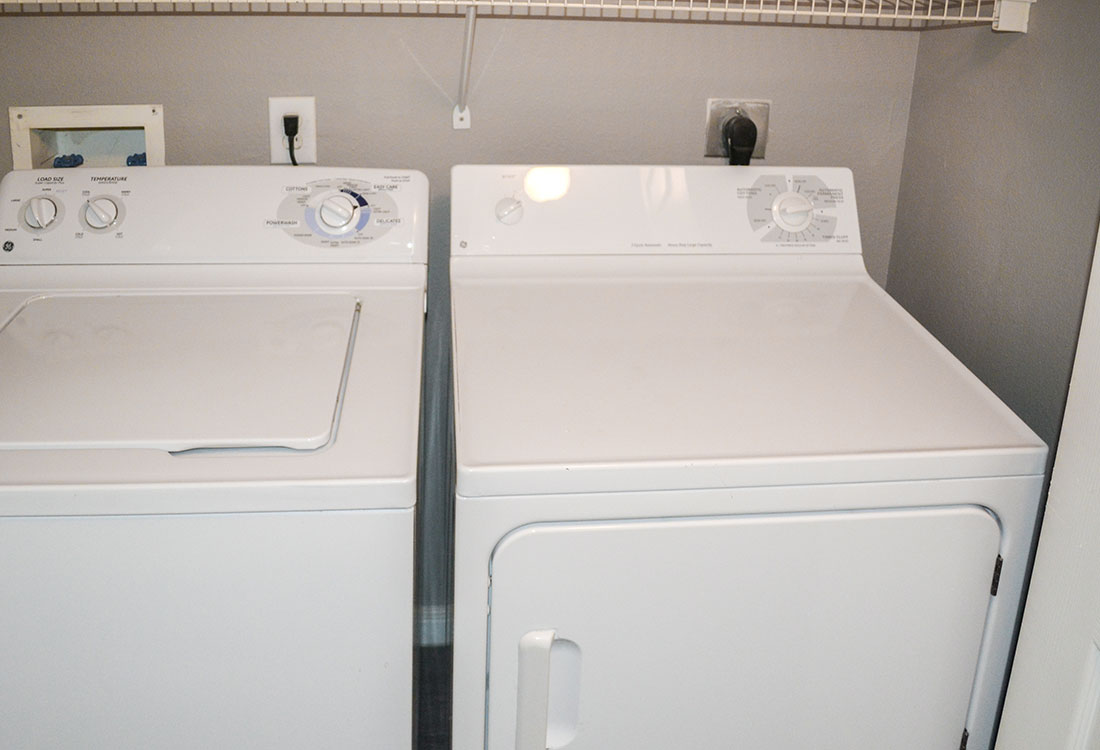 Laundry Area at Wyndham Apartments in Lubbock, TX.