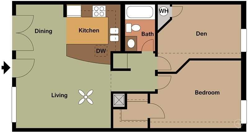 Zazu Apartments - Floorplan - Caesar