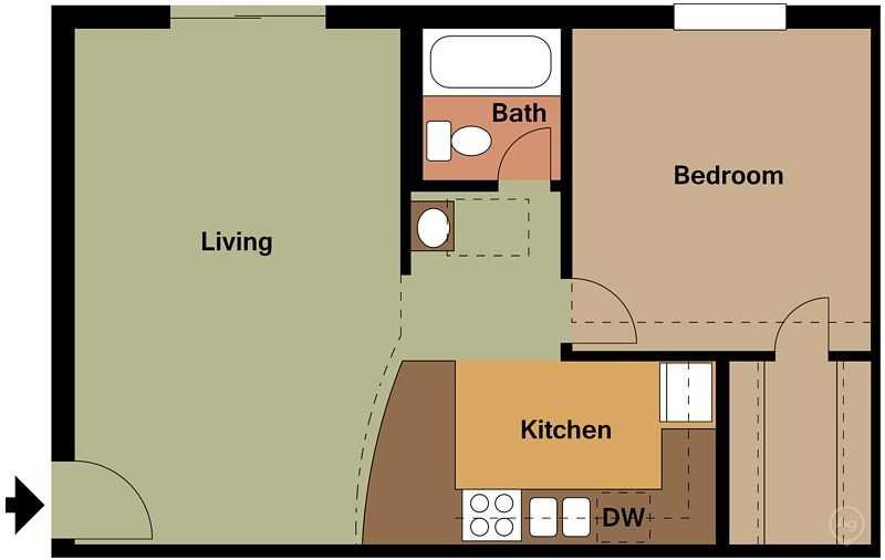 Zazu Apartments - Floorplan - Juliet