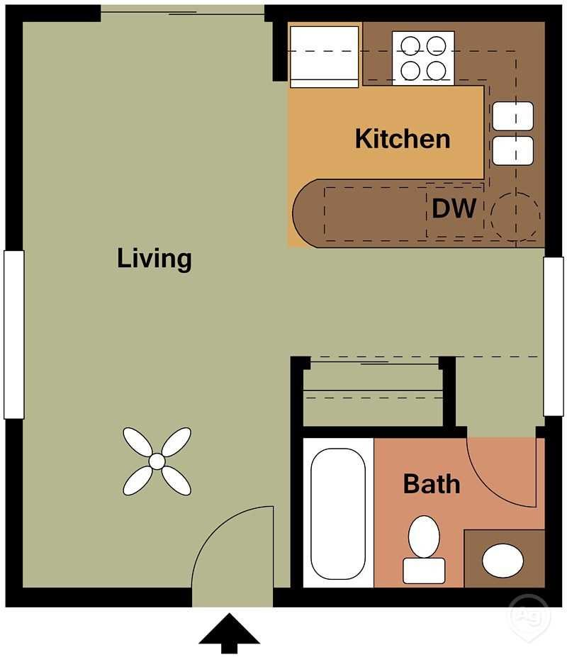 Zazu Apartments - Floorplan - Ophelia