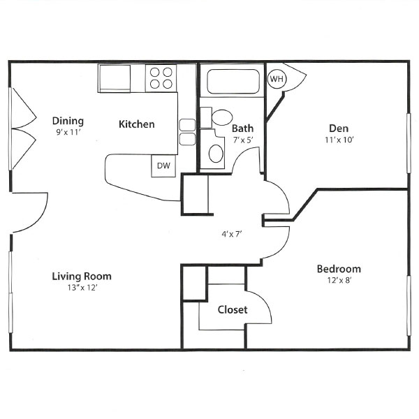 Zazu Apartments - Floorplan - Othello