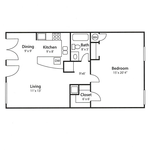 Zazu Apartments - Floorplan - Verona