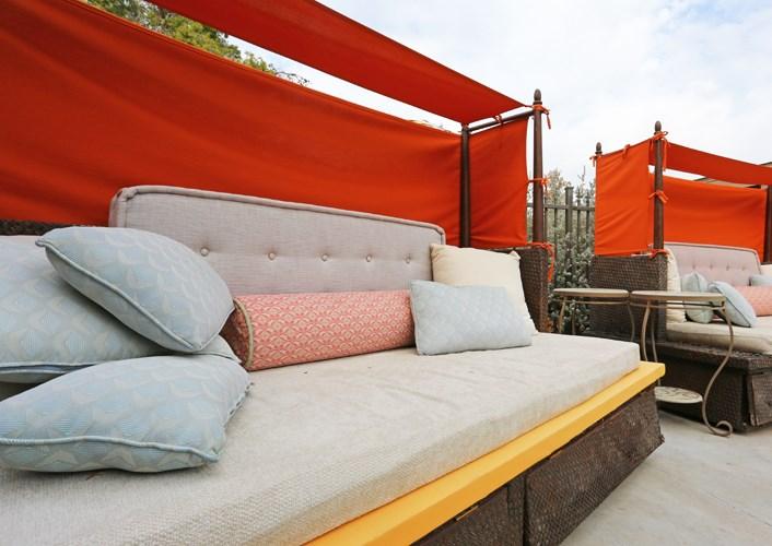 Poolside Cabanas at Zazu Apartments in Phoenix, Arizona