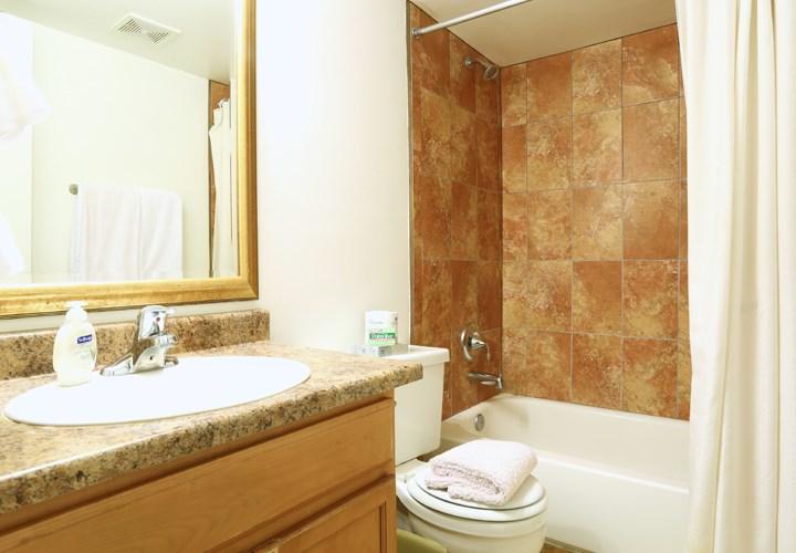 Sophisticated Bathrooms at Zazu Apartments in Phoenix, Arizona